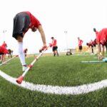 Equipo de fútbol de discapacitados.