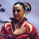 Lidia Rodríguez en una competición internacional. -j