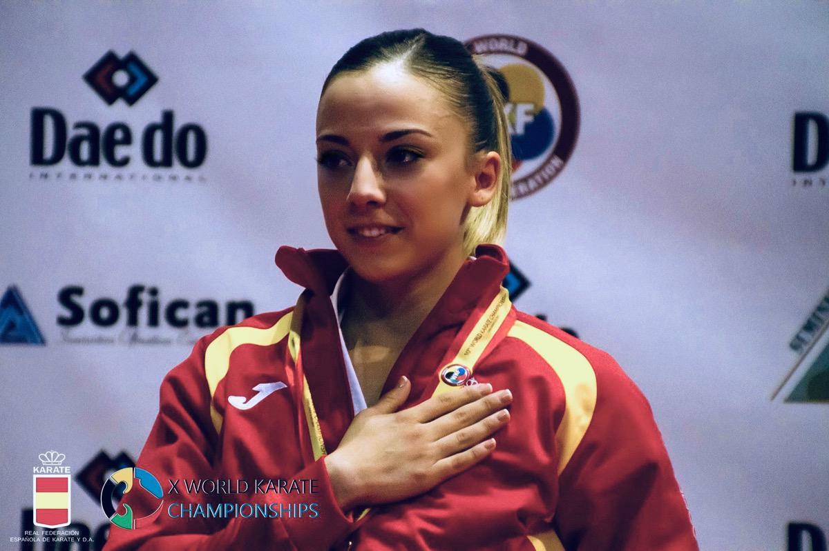 Lidia Rodríguez en una competición internacional.